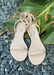 Aria in Nude women's waterproof jelly sandal. front view.