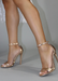 Everyday rose gold Ali heel, side view.