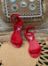 Aria Jelly Studded Sandals in Scarlet for kids!