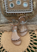Aria Jelly Studded Sandals in Rose Gold for kids!