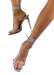 Ana a Multi way women's strapy tie up silver  heel