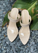 "Women's nude slip-on heel ""Audrey"" front view."