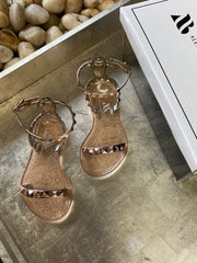 Aria Jelly Studded Sandals in RoseGold for kids!