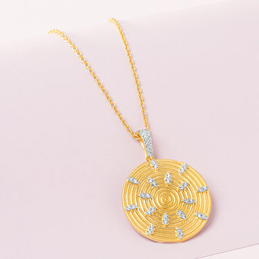 Circular Ring Pendant Necklace