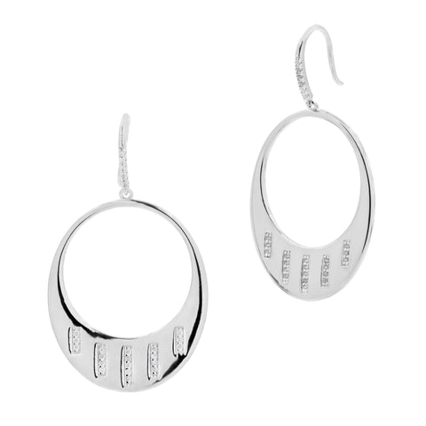 Radiance Drop Hoop Earring