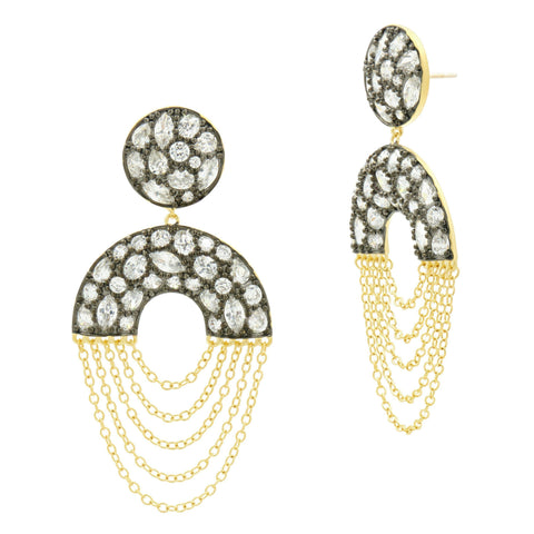 Rosecut Dome Drop Earrings - FREIDA ROTHMAN