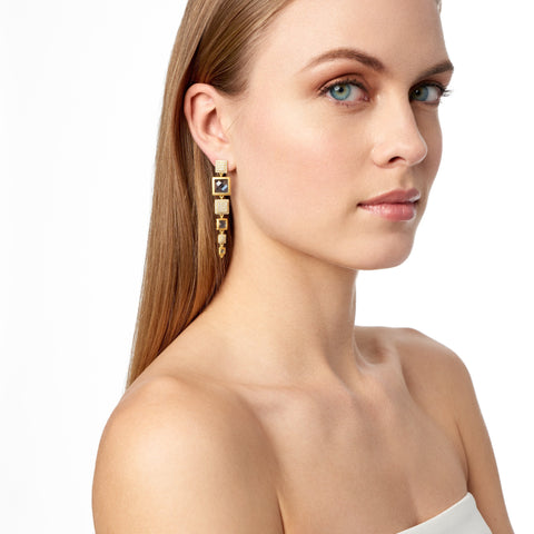 Ocean Azure Linear Drop Earrings