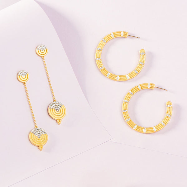 Fleur Bloom EMPIRE Circular Statement Earrings