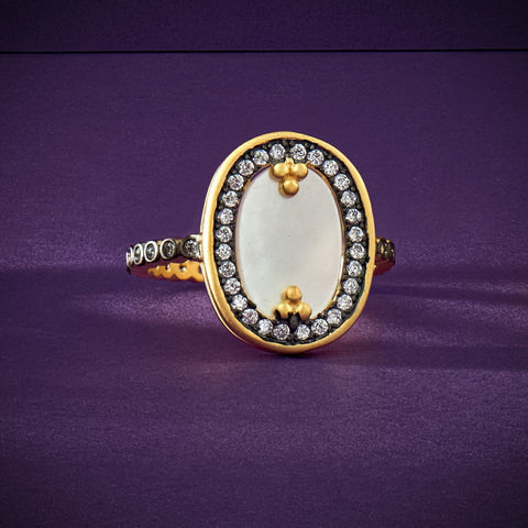 Imperial Oval Mother of Pearl Cocktail Ring