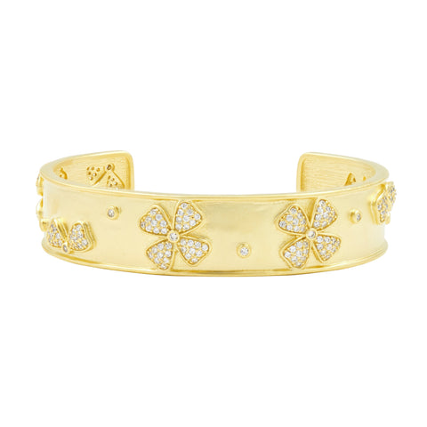 Harmony Flower Cuff Bangle