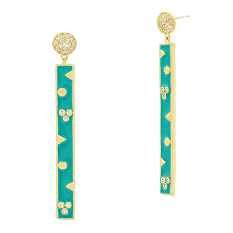 Harmony Linear Bar Drop Earrings