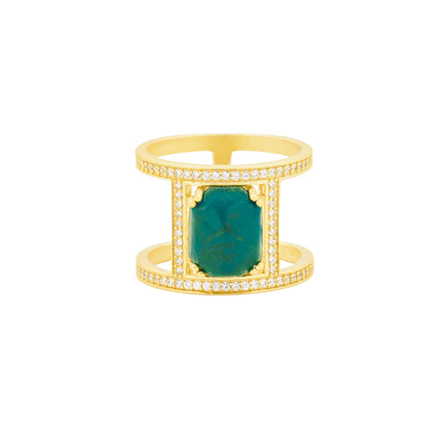 Harmony Caged Stone Ring