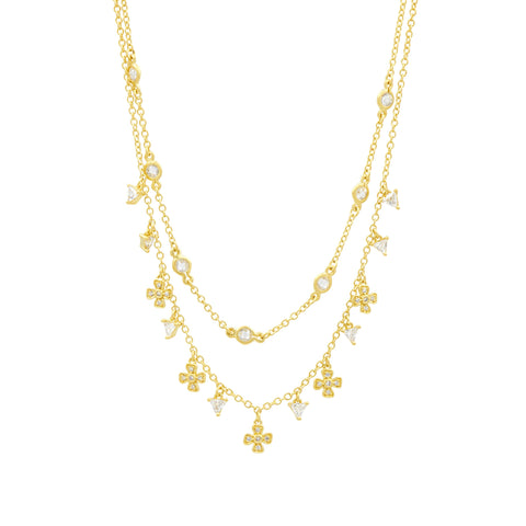 Harmony Double Strand Short Necklace