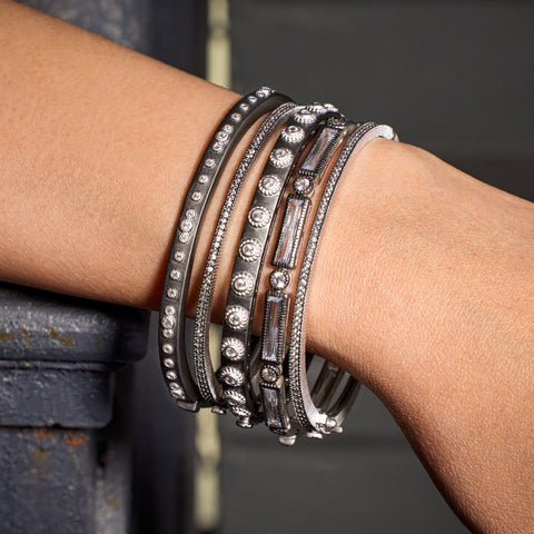 Industrial Bangle Stack (set of 5)