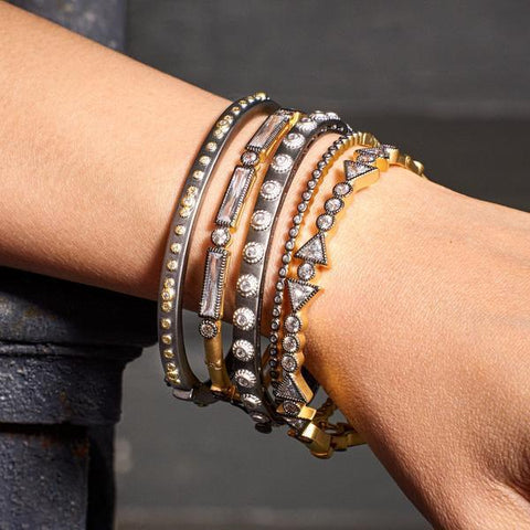 Mixed Metal Bangle Stack