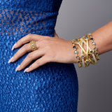 Imperial Blue Station Hinge Bangle