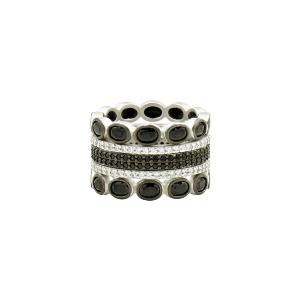 Industrial Finish 5-stack Ring
