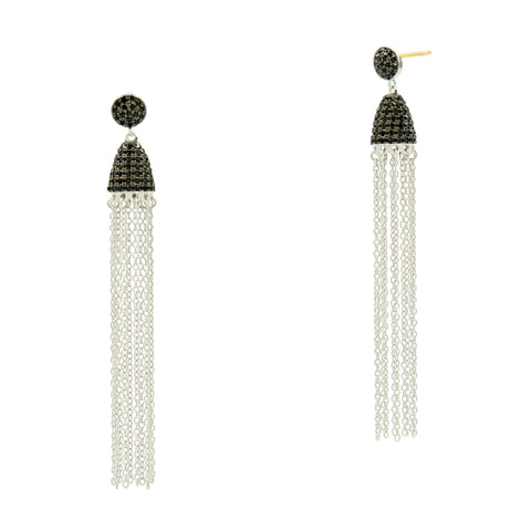 Industrial Finish Tassel Earring