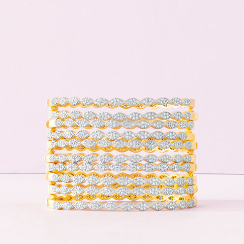 Fleur Bloom EMPIRE Thin Pavé Hinge Bangle