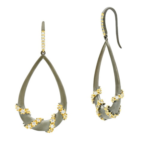 Midnight Pavé Roped Teardrop Earring