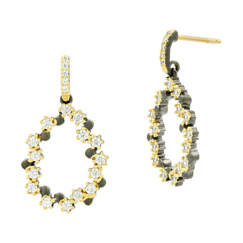 Midnight Pavé Teardrop Earring