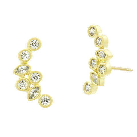 Geo Stone Radiance Climber Earrings