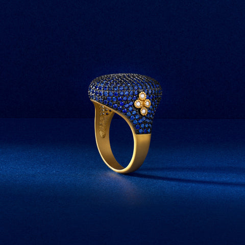 Midnight Pavé Cocktail Ring