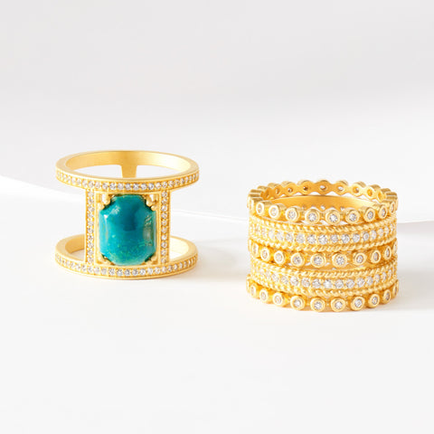 Golden Summer Statement Rings