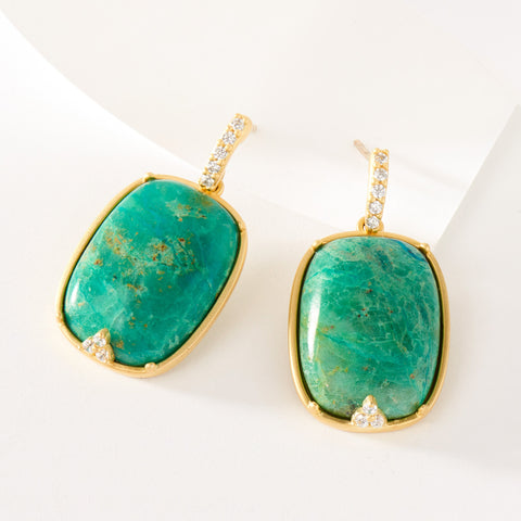 Chrysocolla Drop Earring