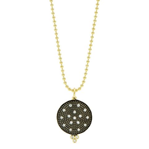 Pavé Disc Pendant Necklace