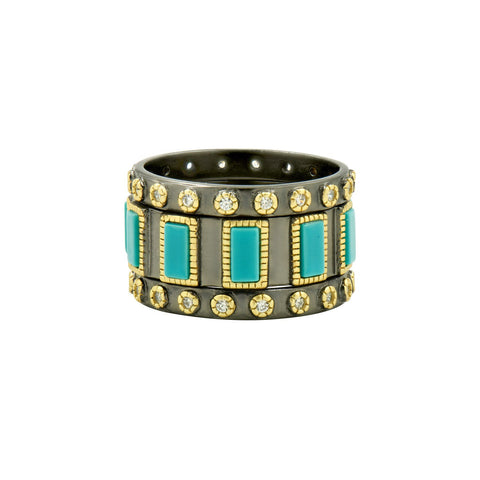 Turquoise 3-Stack Rings
