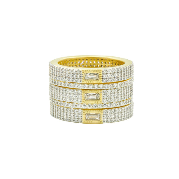 Allover Pavé 5-Stack Ring