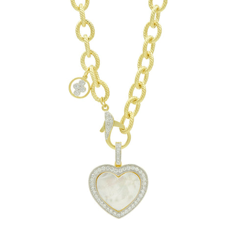 Charm and Love Chunky Link Necklace
