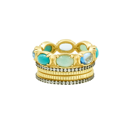Touch of Turquoise 5-Stack Ring
