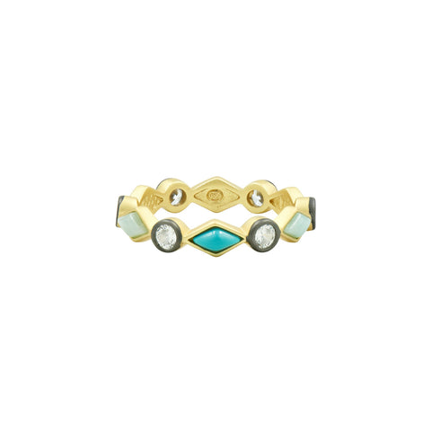 Shades of Turquoise Single Ring