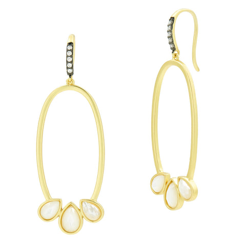 Oval Open Hoop Hook Earring