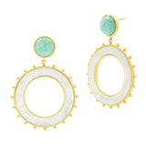 Starburst Open Hoop Earring
