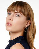 Midnight Pavé Roped Hoop Earring