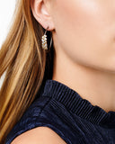 Midnight Embellished Hoop Earring