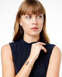 Midnight Pavé Thin Open Cuff
