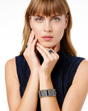 Midnight Baguette Wide Hinge Bangle