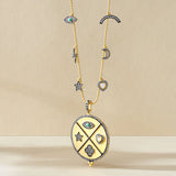 Medallion Charm Pendant Necklace