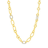 Two-tone Chain Link Necklace