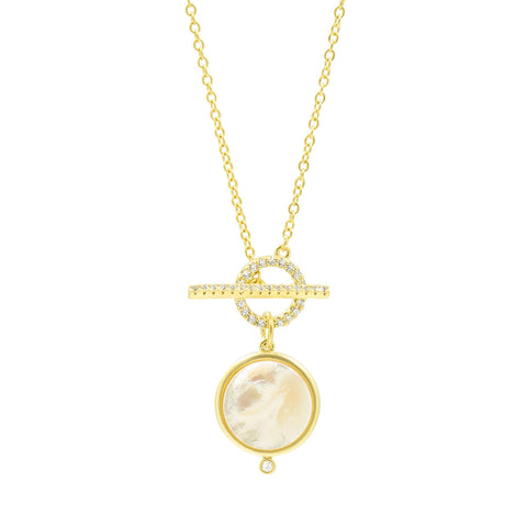 Mother of Pearl Toggle Pendant Necklace