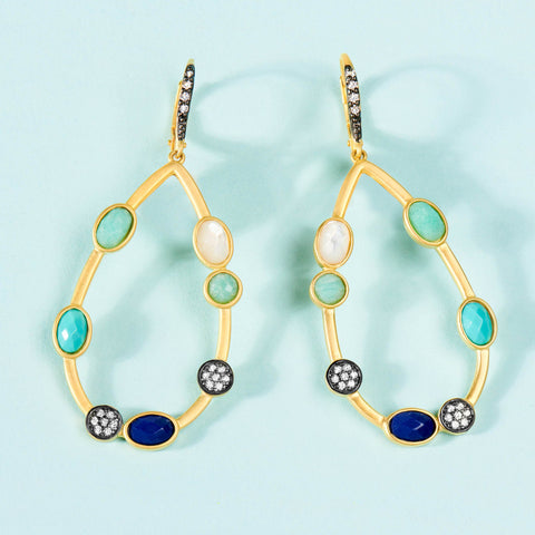 Touch of Turquoise Teardrop Earring