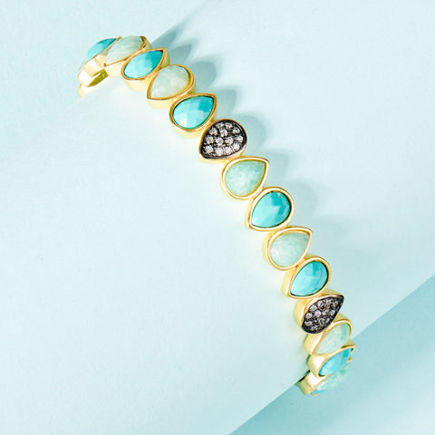 Teardrop Hinge Bangle