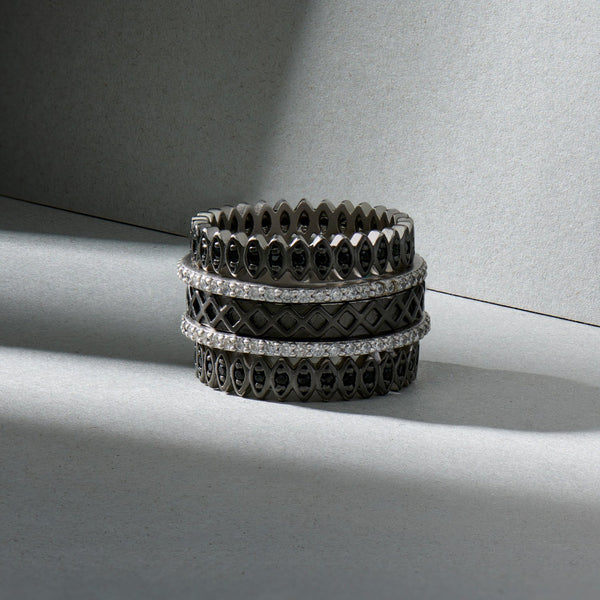 Two-Tone Pavé 5-Stack Ring