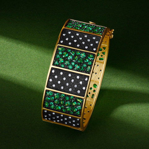 Midnight Emerald Statement Bangle