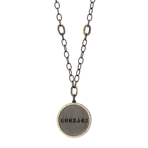 COURAGE Chain Link Pendant Necklace