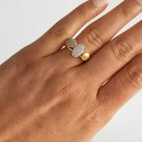 Oval Pavé 3-Stack Ring